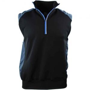 PAGE & TUTTLE Mens Half Zip Knit/Woven Vest Golf Athletic Outerwear Vest